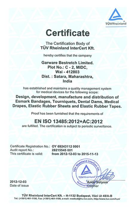 Certification Advantages Elastomer Inc